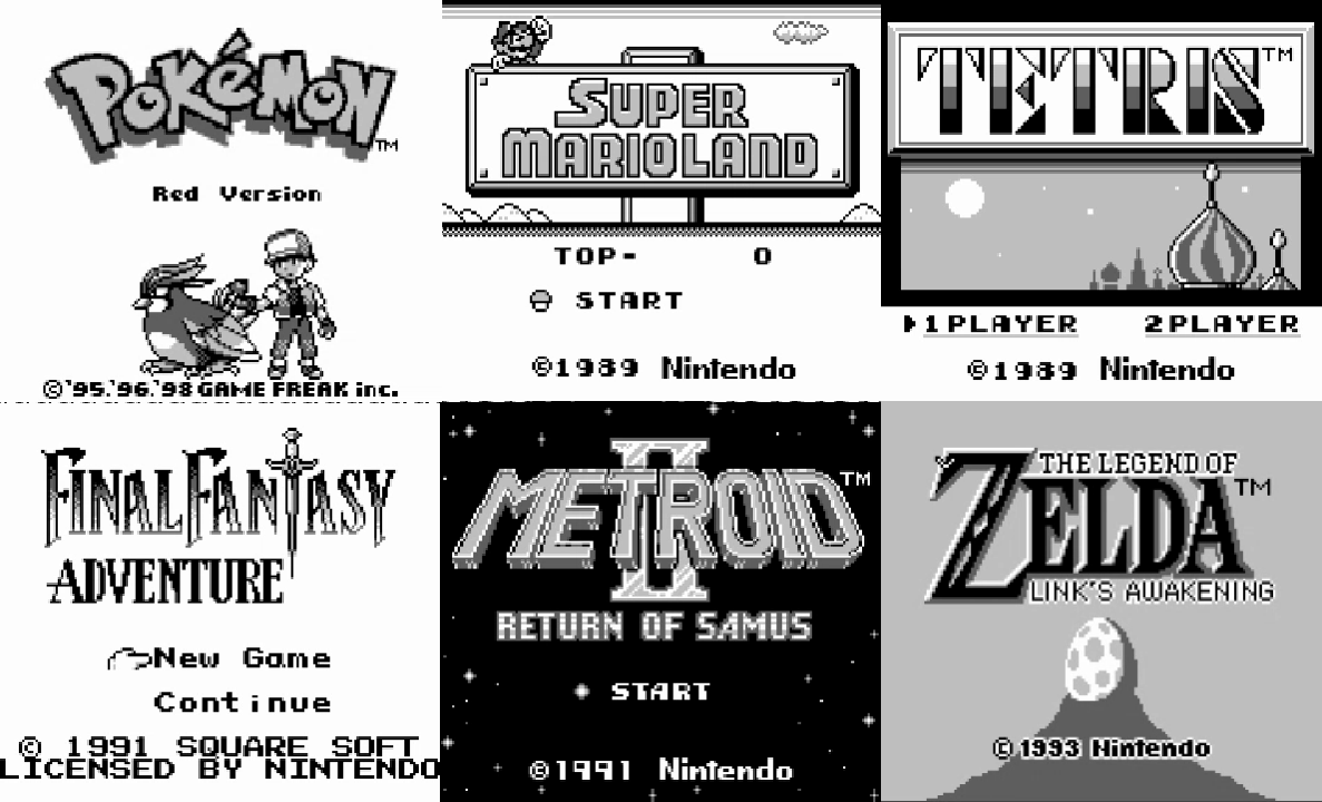 Screenshots of some famous games that run at least up to their title screens.